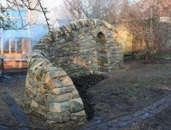 Wall with Arch Entry