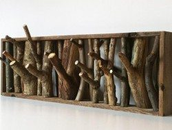 Got some fallen branches? Why not turn them into a coat hanger?