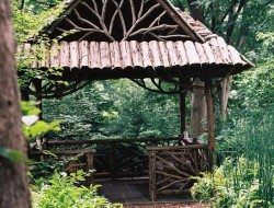 A few weeks ago we showed you a front entry quite similar to this. What do you think of the style when it's used as a gazebo?