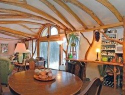 This is the home of Kara Woods and a great example of whole tree architecture.