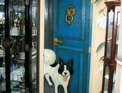 The painted pantry door - open or closed?