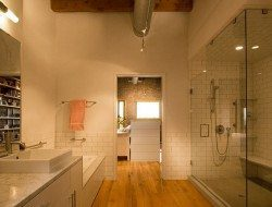 Loft remodel by A and H Architecture - bathroom