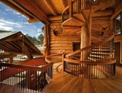 Amazing Log Home - Staircase