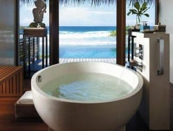The bathroom with a view