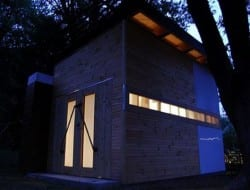 Chuck Witmer's Silverspring Shed At Night
