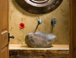 Whole tree bathroom by PrecisionCraft