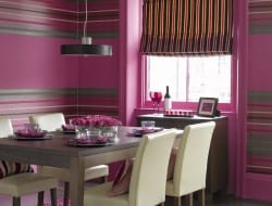 Retro Pink Dining Room Ideas Wall - HomesByDerby