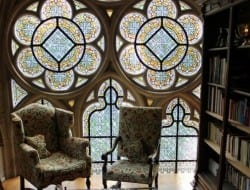 How lovely is this? Is there a room in your house where you could use a stained glass window?