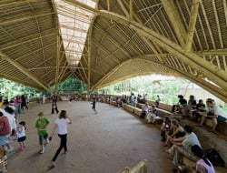 This is a great example of the versatility and strength of bamboo. It's an open plan school. Do you like it?