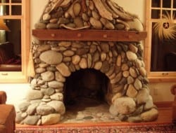 Stone Fire Place - Eckerman Studios