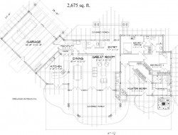 The floor-plan on which the home is based