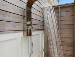The First Container Home in the Hamptons - Outdoor Shower