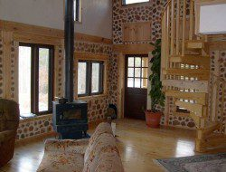 This is the inside of a cordwood home. Like it?