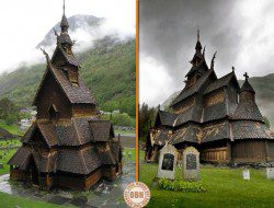 This is the Borgund Stave Church in Norway. It's pretty unusual, don't you think?