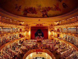 Hmmm... we're in trouble if we're wrong but we 'think' fan, @Michelle Lamarche sent us this image of a Buenos Aries theatre turned bookstore.