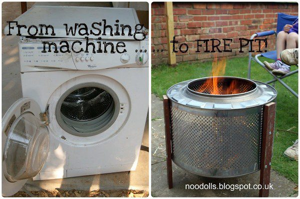 From washing machine to fire pit