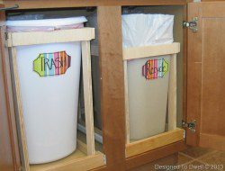 12. DIY Pull-Out Trash Cans - Designed To Dwell