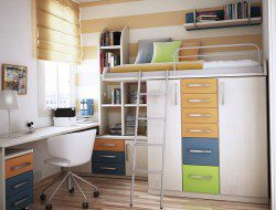 Space Saving Bed with Bunk above idea - Smart Kids Bedroom