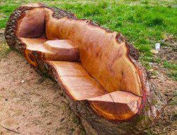Probably the most obvious way to use a fallen tree is for firewood. Why not make it last longer by turning it into outdoor furniture.