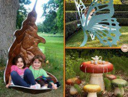 Which of these whimsical outdoor furniture pieces would you love to have in your yard? We'll take all three of them :-P