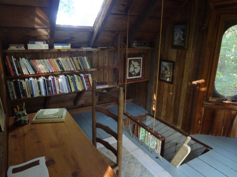 A bookshelf, a skylight and a desk. What more could I need?
