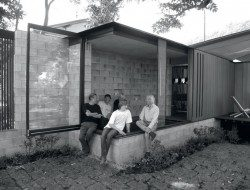 Wall House - Site Meeting Client Architect Friends