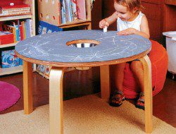 Table Furniture for Kids - Offi Woody Chalkboard Table
