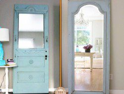 Looking for an idea on how to reuse old doors? This idea might help you.
