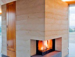 Rammed earth, timber and polished concrete. This is the work of Sydney based Architect, James Stockwell.