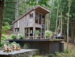Micro Homes: High Fashion Goes Off the Grid With This 14′-by-14′ Cabin - Interior Design 2014