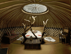 Handcrafted yurt built by Guy Mallinson