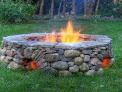 The Ring of Fire! This is built using the dry-stack method meaning that there is no mortar. Where do you rate this on a scale of 1 to 10. We give it an definite 12.5!!!