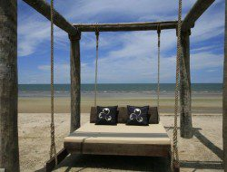 Swing Bed in the Beach