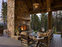 Awesome fireplace, huge beams, and great covered deck, anything missing?