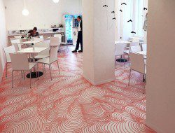 German Artist Draws On A Cafe Floor With Permanent Marker