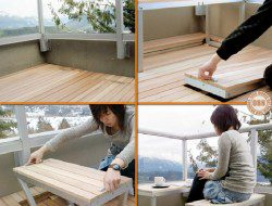 Small balconies and furniture can be a challenge. Here's a great solution!
