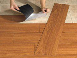 Vinyl planks are easy to cut and lay