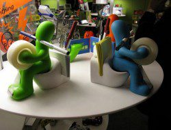 The Butt Station Desk Accessory Holder - Green and Blue