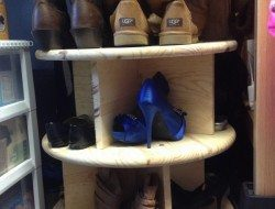 Lazy Susan Shoe Storage Examples