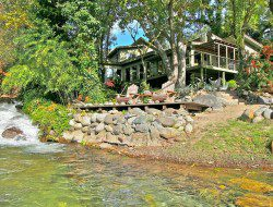 Looking back to the house - Kaweah Falls