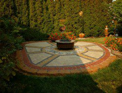 DIY Paver and Pebble Mosaic Patio - After