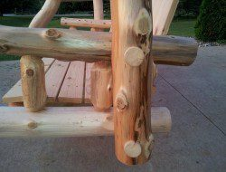 Outdoor Log Swing by Aaron LaVoy