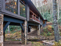Bridge House: Home Across A Stream - Cashiers, North Carolina