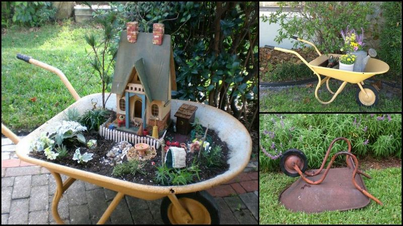 WheelbarrowFairyGarden