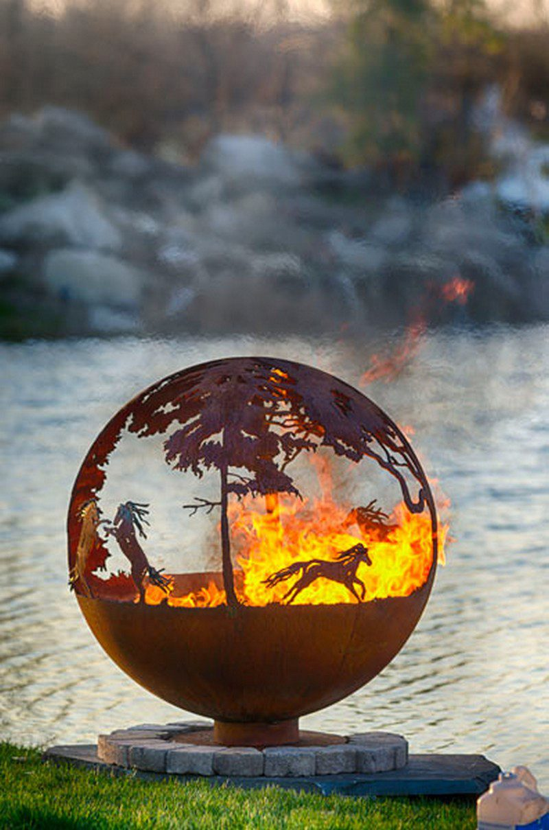 Artistic Sphere Fire Pit
