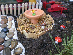 DIY Wheelbarrow Fairy Garden
