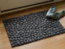 DIY River Rock Doormat