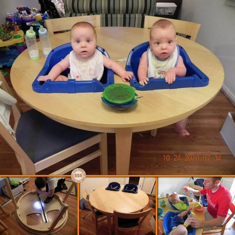 DIY Twin High Chair