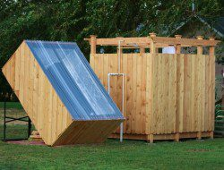 A simple, efficient and inexpensive outdoor bathroom