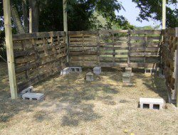 How To Build A DIY Pallet Shed - Attaching the pallets